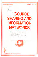 Resource Sharing And Information Networks