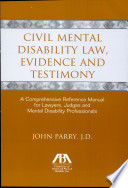 Civil Mental Disability Law Evidence And Testimony Book PDF
