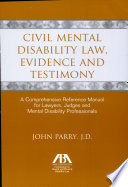 Civil Mental Disability Law Evidence And Testimony