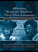 Affirming Students  Right to Their Own Language