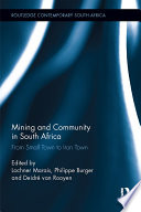 Mining and Community in South Africa