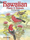 Hawaiian Plants and Animals Coloring Book