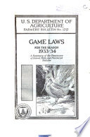 Game Laws for the Season 1933 34 Book PDF