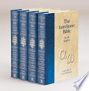 The Interlinear Bible Hebrew-Greek-English 4 Volume Edition with Strong's Concordance Numbers Above Each Word