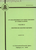 1976 Reassessment of Noise Concerns of Other Nations: Country-by-country reviews