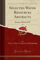 Selected Water Resources Abstracts  Vol  8