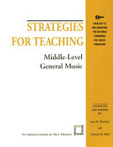 Strategies for Teaching Middle level General Music Book