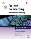 College Keyboarding : Advanced Word Processing : Microsoft Word 2002 : Lessons 61-120