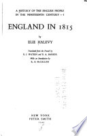 A History of the English People in the Nineteenth Century