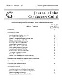 Journal of the Conductors  Guild