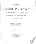 A New English Dictionary On Historical Principles Book PDF