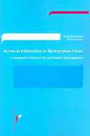 Access To Information In The European Union