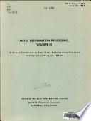 Metal Deformation Processing