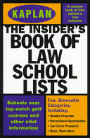 The Insider s Book of Law School Lists