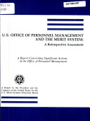 U S  Office of Personnel Management and the Merit System