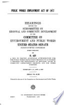 Public Works Employment Act of 1977