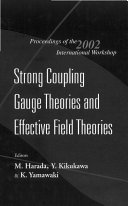Strong Coupling Gauge Theories and Effective Field Theories