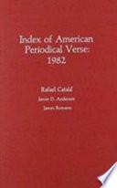 Index of American Periodical Verse 1982