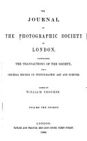 The Journal of the Photographic Society of London