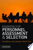 Essentials Of Personnel Assessment And Selection Book PDF
