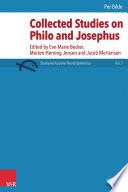 Collected Studies on Philo and Josephus