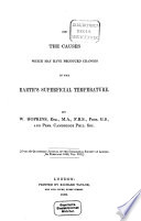 On The Causes Which May Have Produced Changes In The Earth S Superficial Temperature Book PDF