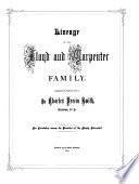 Lineage of the Lloyd and Carpenter Family