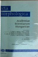 Acta Morphologica Academiae Scientiarum Hungaricae Book