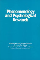 Phenomenology and Psychological Research