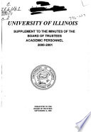 Supplement to the Minutes of the Board of Trustees of the University of Illinois