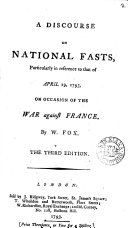 Pdf A Discourse on National Fasts, Particularly in Reference to that of April 19, 1793, on Occasion of the War Against France. By W. Fox