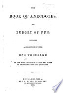 The Book of Anecdotes, and Budget of Fun