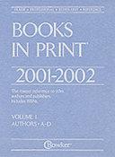 Books In Print 2001 2002