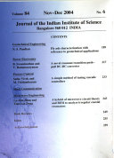 Journal of the Indian Institute of Science Book