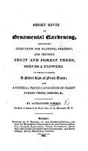 Short Hints on Ornamental Gardening, etc ebook