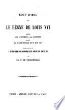 Coup d'oeil sur le règne de Louis XVI