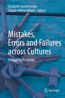 Mistakes  Errors and Failures across Cultures
