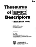 Thesaurus of ERIC Descriptors Book