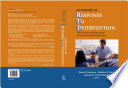 Handbook of Response to Intervention Book