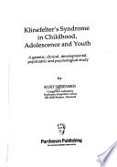 Klinefelter's Syndrome in Childhood, Adolescence, and Youth