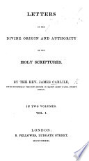 Letters on the Divine Origin and Authority of the Holy Scriptures