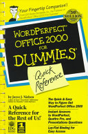 WordPerfect Office 2000 for Dummies Quick Reference