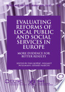 Evaluating Reforms Of Local Public And Social Services In Europe Book