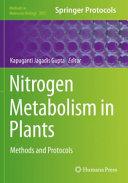 Nitrogen Metabolism in Plants
