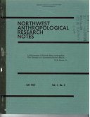 Northwest Anthropological Research Notes Book