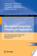 Bio inspired Computing  Theories and Applications