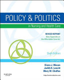 Policy and Politics in Nursing and Healthcare - Revised Reprint - E-Book [Pdf/ePub] eBook