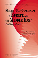Minority Self-Government in Europe and the Middle East