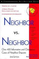 Neighbor Vs  Neighbor