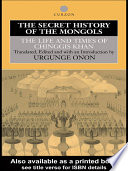 The Secret History of the Mongols Book